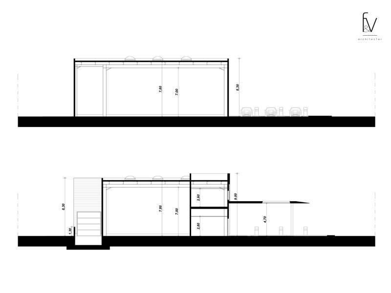 Projet d 39 architecture d 39 une centre commercial dans le var for Projet d architecture