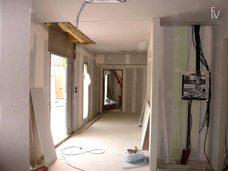 projet d 39 architecture d 39 un cabinet m dical bouches du rh ne gardanne f v architectes cabinet d. Black Bedroom Furniture Sets. Home Design Ideas