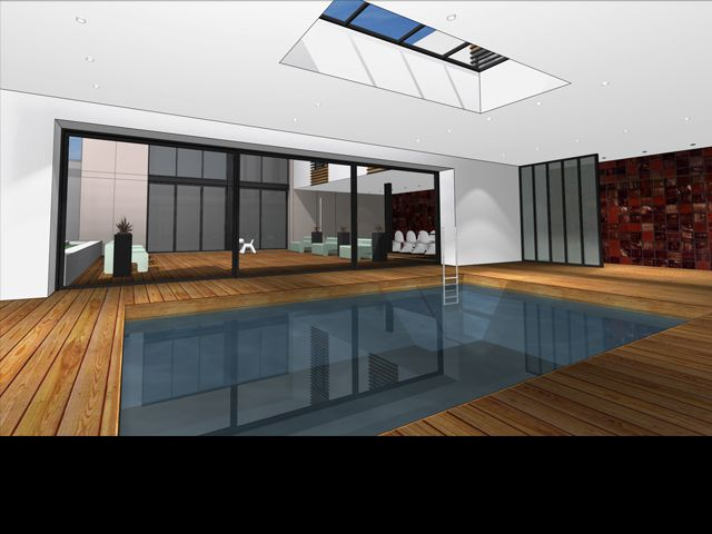 Projet de maison d 39 architecture contemporaine et piscine - Amenagement piscine contemporaine marseille ...