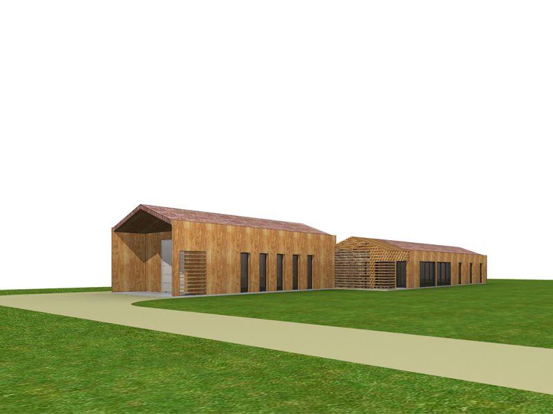 Projet d 39 architecture contemporaine d 39 une maison for Architecte batiment agricole