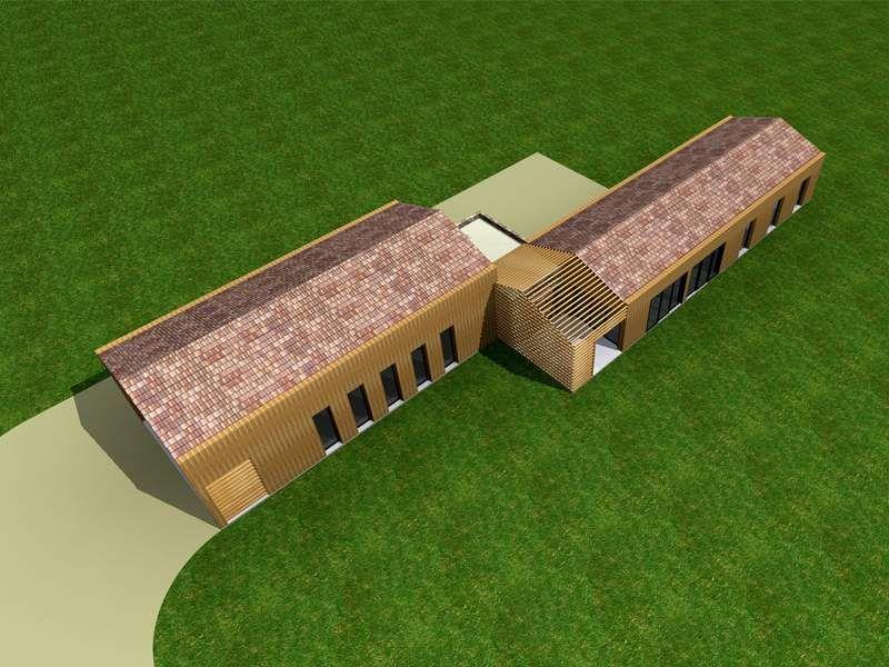 contemporaine dune maison à ossature et bardage bois Bouches du