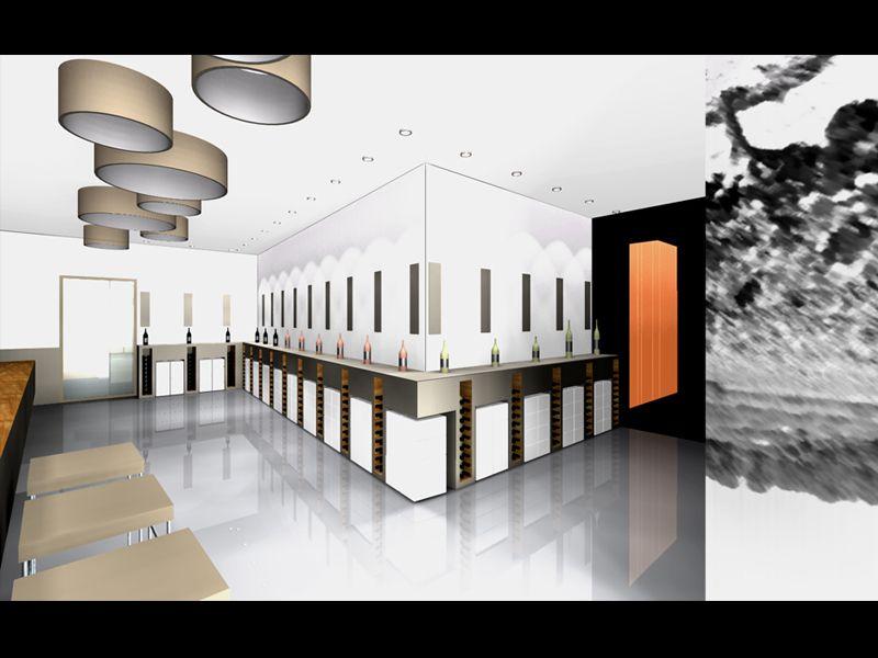 magasin de vente cave vinicole f v architectes cabinet d 39 architectes marseille f v architectes. Black Bedroom Furniture Sets. Home Design Ideas